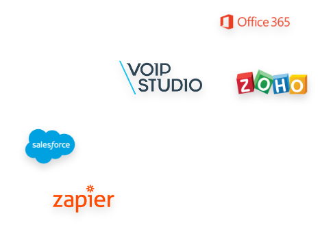 Crm VoIP integrations logos