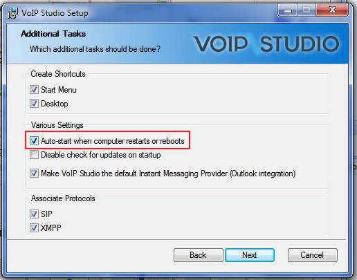 Auto Start VoIP Phone
