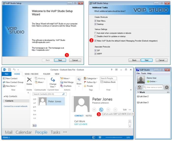 VoIPstudio's Integration With Outlook