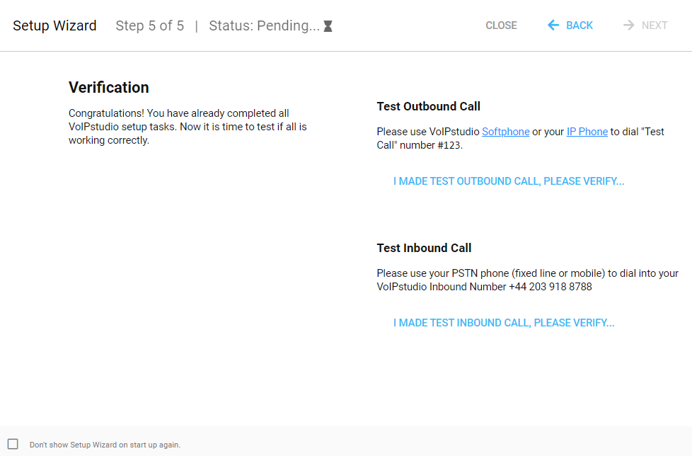 verification VoIP number