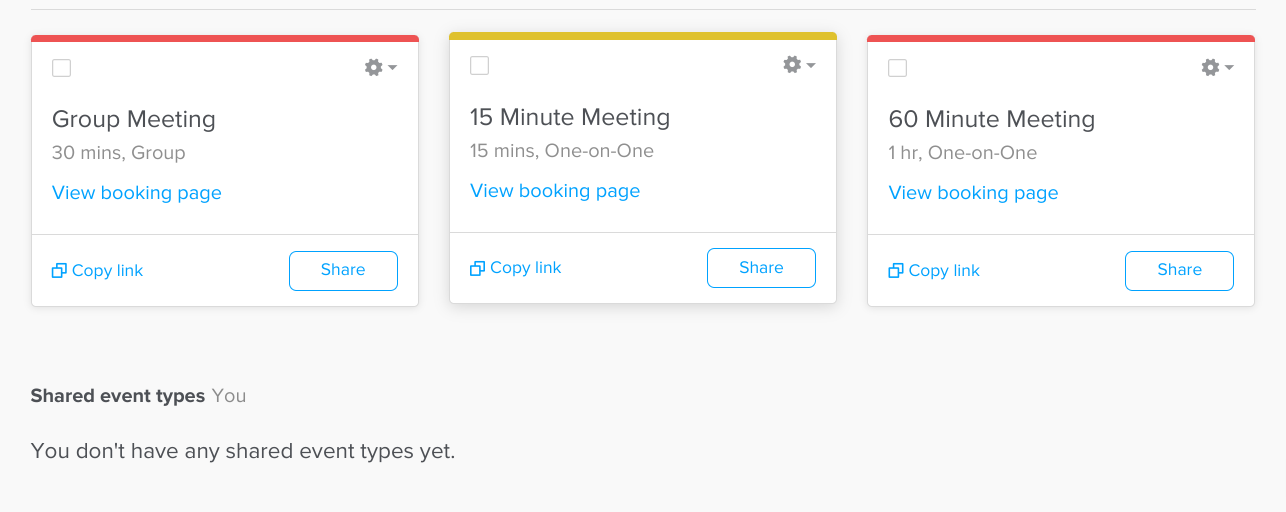 Scheduling app - Calendly