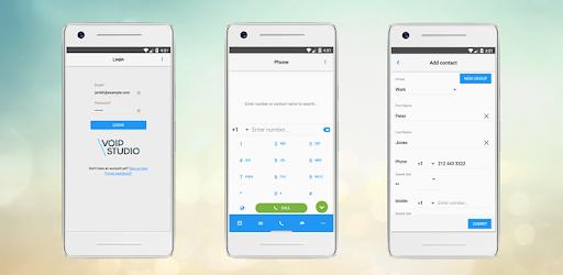 Smartphones mit VoIPstudio-App