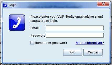 VoIP login