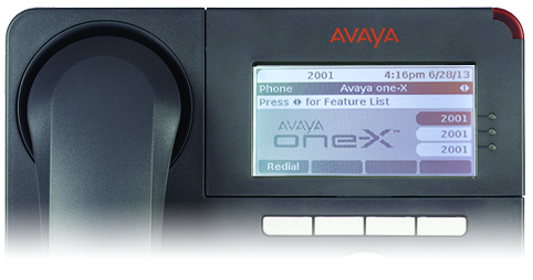 Avaya One-X Phone - third party SIP service is ready to use