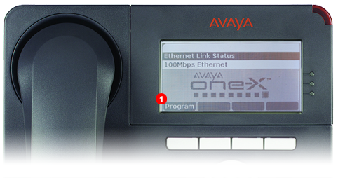 Avaya One-X Phone - step 1