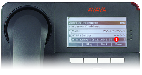 Avaya One-X Phone - step 2 - third party SIP service