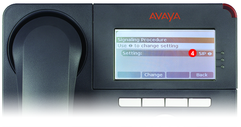 Avaya One-X Phone - step 3 - third party SIP service