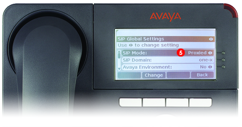 Avaya One-X Phone - step 4 - third party SIP service