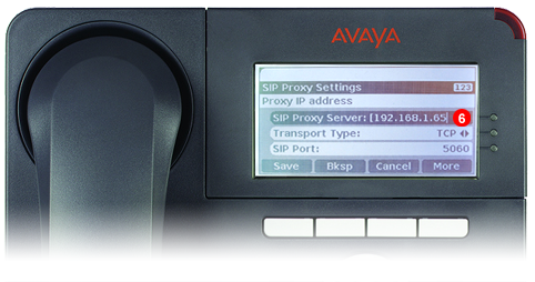 Avaya One-X Phone - step 5 - third party SIP service