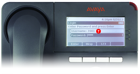 Avaya One-X Phone - step 6 - third party SIP service