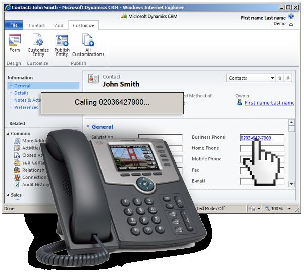 Microsoft Dynamics CRM 2011 Click2Call