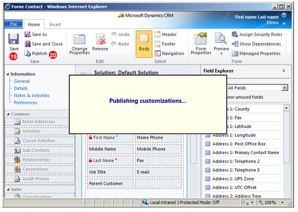 Microsoft Dynamics CRM telephone handler
