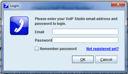 How to Get a VoIP Number: Enter VoIP email ID and password