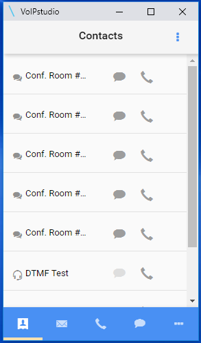 VoIP Studio Call History