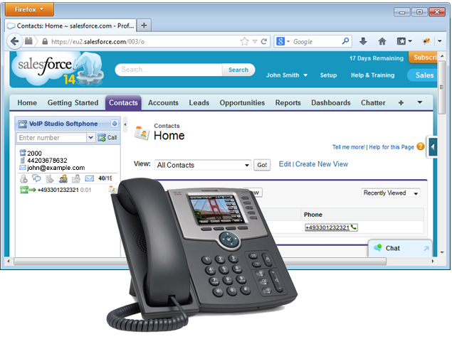 Salesforce VoIPStudio Call Center integration