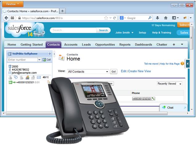 Salesforce VoIPstudio Call Center integration